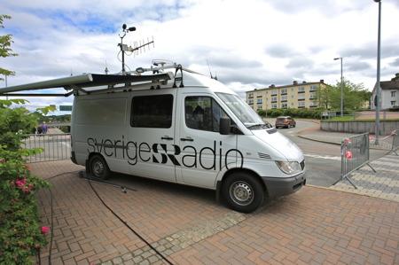 P4 Radio Värmland sände sommarluffen från Årjäng.