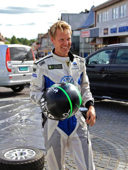 P G Andersson, vinnaren av rallyspecialen 2015.