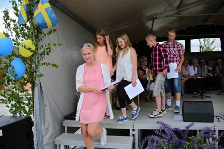 Clara-priset tilldelades klass 5 i Stommens skola Västra Fågelvik.