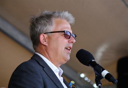 Owe Lindström, chef för kommunens Medborgarservice, organiserade arrangemanget.