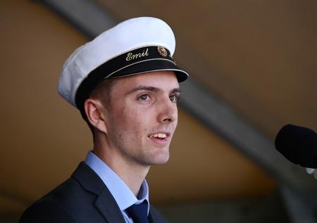 Årets ungdomstalare var Emil Myrén, student vid Årjängs gymnasieskola.