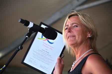 Kristina Kristiansson, vice ordförande i Kultur- och fritidsämnden, presenterade årets mottagare av Årjängs kommuns Kulturpris.