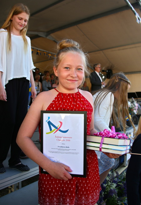 Clara Nilsson från Svensbyns skola i Sillerud.