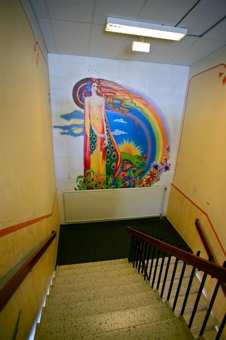 16 juni 2015 - Konstverk i Silbodalskolan, målat av Nisser.