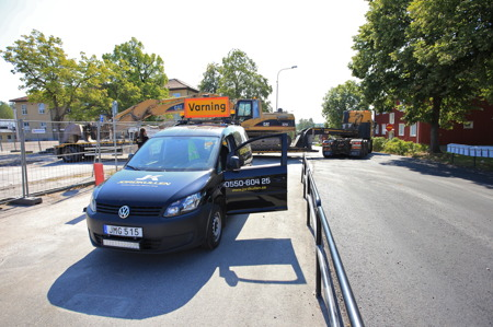 21 augusti 2015 - Rivningsfirman åker hem till Storfors.