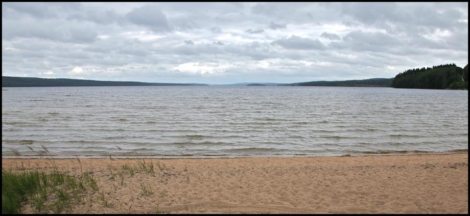 Breviken vid sjön Västra Silen.