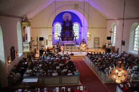Avslutningskonserten i Holmedals kyrka.