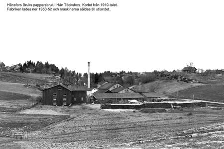 Pappersfabriken i Hån. Foto: Axel Gunnar Ödvall / kopia Bengt Erlandsson.