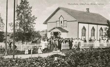 Fest vid Missionshuset på 1920-talet. Foto: okänd