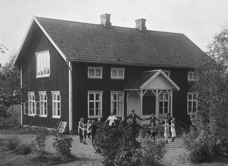 Dalens skola. Foto: okänd / Nordmarksstugans fotoarkiv.