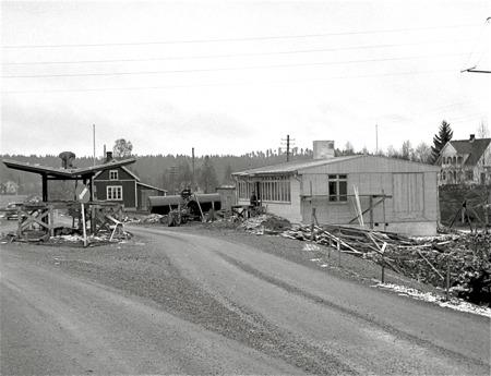 Byggnation av ny tullstation i Hån. Foto: Fritz Arenö / Årjängs kommuns bildbank.