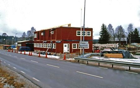 Byggnation av ny tullstation i Hån. Foto: Bengt Erlandsson.