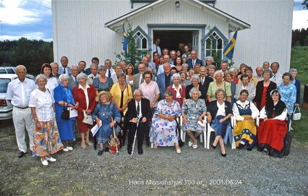 Håns Missionshus 100 år 24 juni 2001. Foto: Bengt Erlandsson