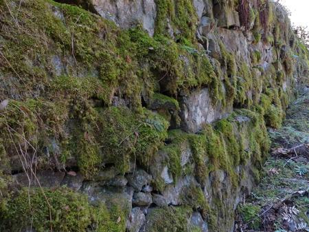 """"""" Lekshalla """" är byggd med en stenlagd mur som stöd."""