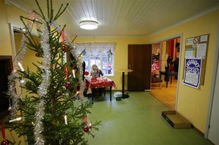 Det var julstämning redan i entrén.
