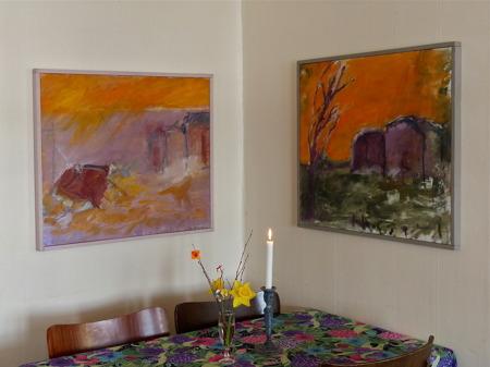 Konstutställning i Bergstugan.