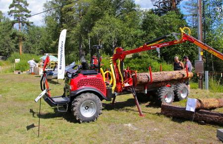 Lätt skogsmaskin som tillverkas vid företaget Lennartsfors AB.