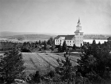 Gamla kyrkan i Östervallskog, bild från 1923.