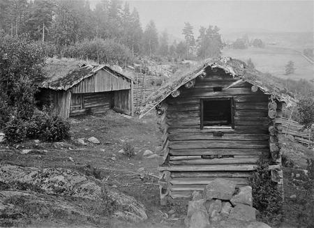 Tjölna och bastu i Sögårn, södra Ivarsbyn Östervallskog.