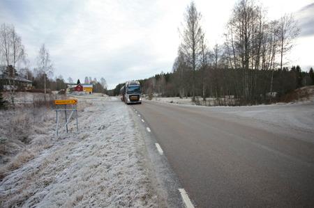 30 november 2016 - Nästa vägtrumma passerar Boviken.