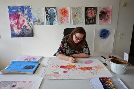 Lena Hautoniemi - bild, akvarell, blandteknik