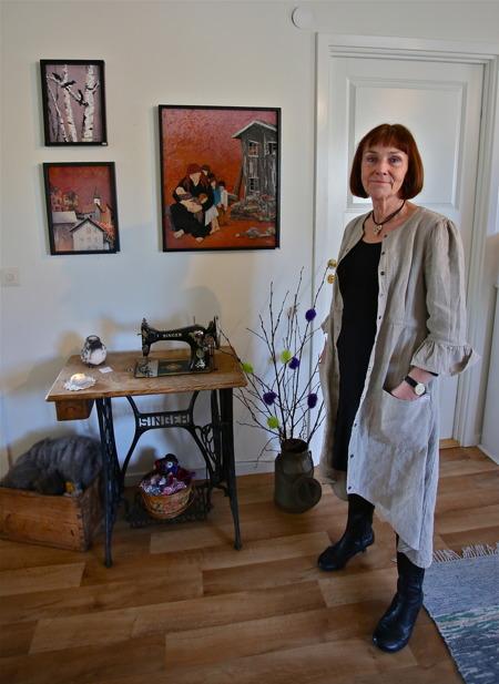 Kerstin Wikeberg-Skog - textil bild, akvarell