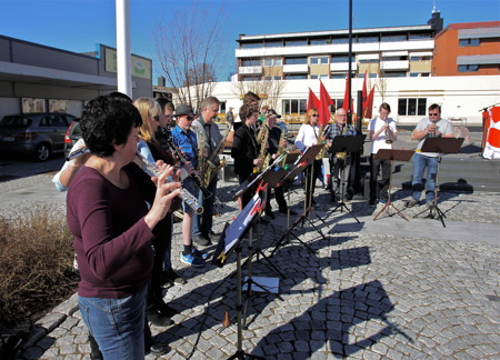 Kommunala musikskolan stod för den musikaliska underhållningen.