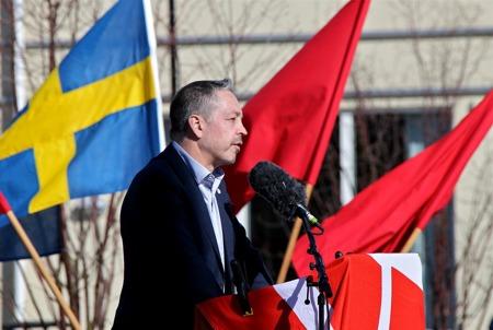 Huvudtalare var riksdagsledamoten Lars Mejern Larsson.