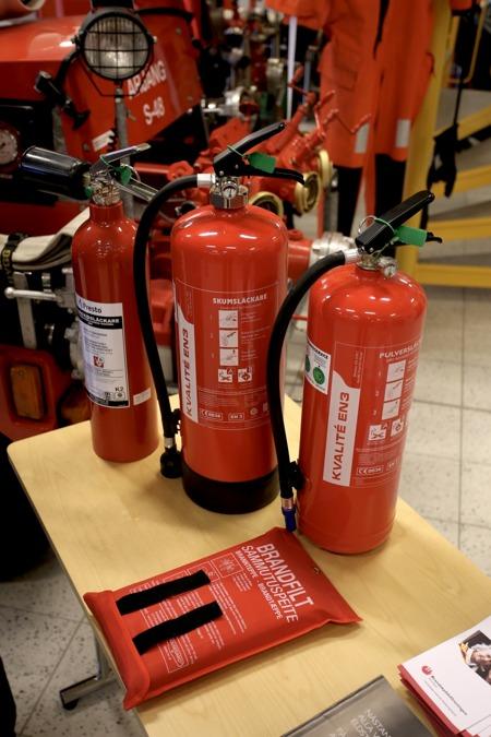 Brandsläckare och Brandfilt - en självklarhet i varje hem.