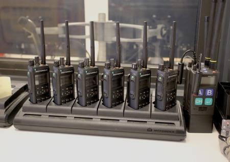 Räddningstjänsten har ett modernt kommunikationssystem.
