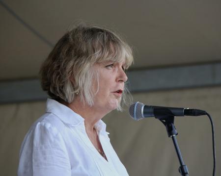 Högtidstalare Birgitta Sparre, rektor på Kyrkeruds Folkhögskola.