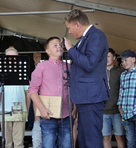 Clarapriset 2017 gick till klass fem iSvensbynsskola, genom Johan EdlundKarlssons bidrag.