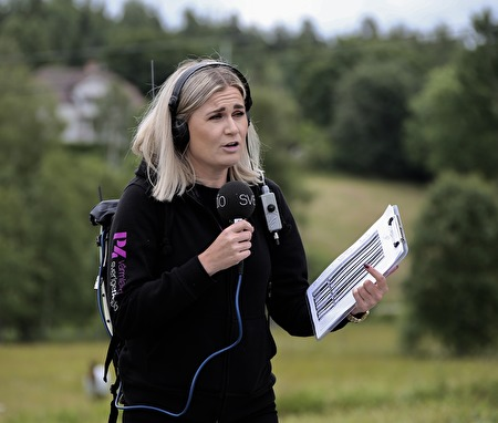 Programledaren Sara Johansson