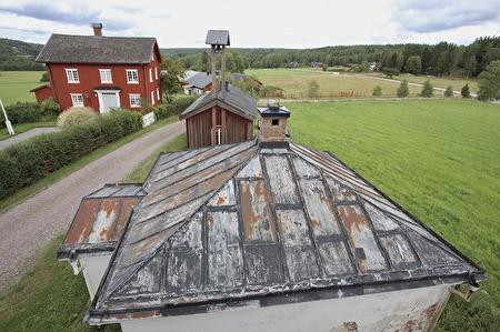 4 augusti 2017 - Taket på Tingshuset arkiv.