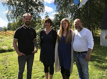 Joakim Svebakken, Mari Skeie Ljones, Janne Hea och Björn S. Hecter. Björn har skapat Domen i Högelian.