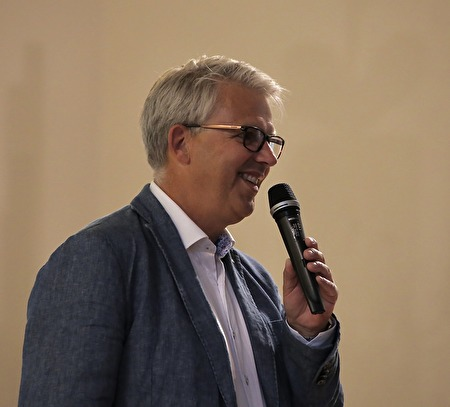 Med ett publikrekord 2017 för Allsköns Musik kunde Owe Lindström inte vara annat än glad.