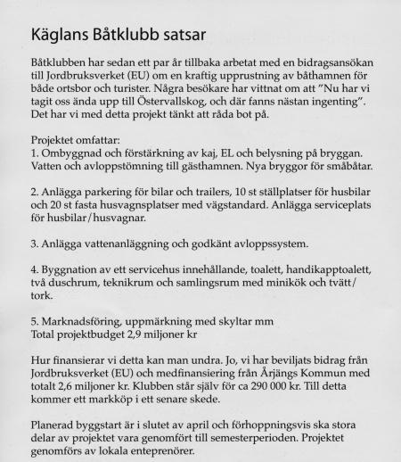 Artikel i Östervallingen.