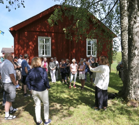 Antikvarie Maud Forsberg berättade om renoveringen av tingshuset.