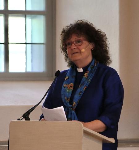 Prästen Boel-Marie Lennartsdotter talade i kyrkan.