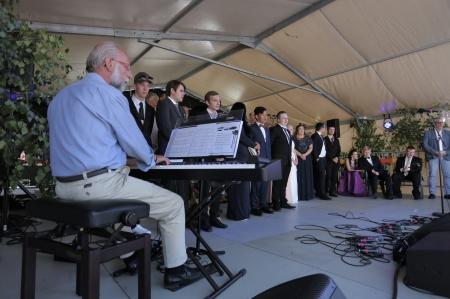 Alla sjöng Sveriges Nationalsång.