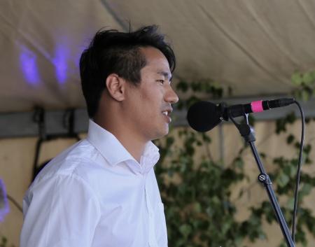 Mortaza Rezaee från Afghanistan var årets ungdomstalare.