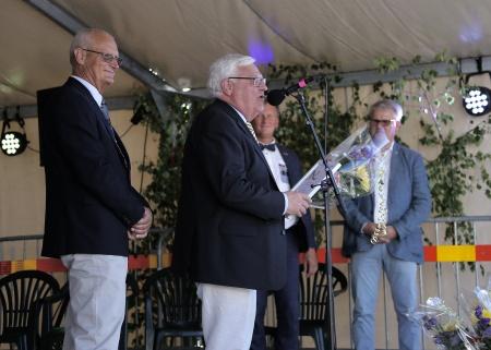 Runar Patriksson berättade om sin medverkan inom området kultur och musik i kommunen, och tackade för utmärkelsen.