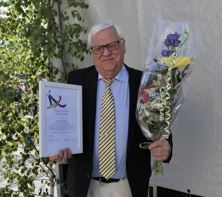 Runar Patriksson tilldelades Årjängs kommuns Kulturpris 2018.