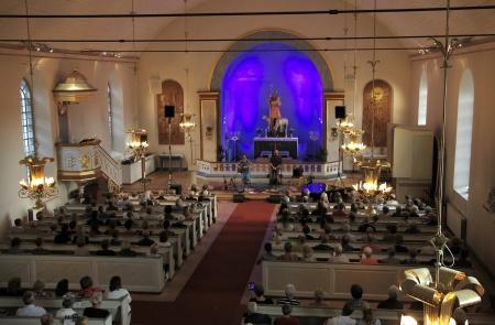 Silbodals kyrka var nästan fylld till sista plats.