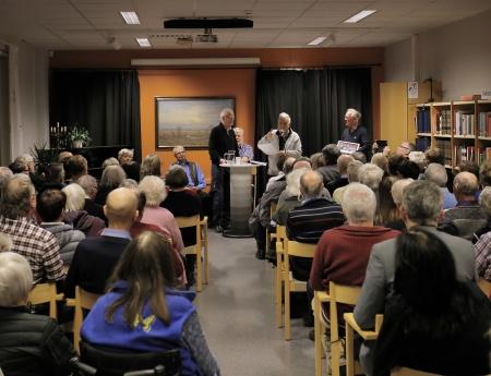 """Bengt """"Kroken"""" Nilsson fortsatte att berätta om boken."""