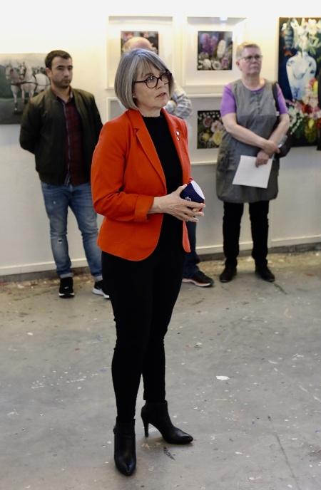 Elisabeth KihlströmRegion Värmland talade och förklarade konstrundan 2019invigd.
