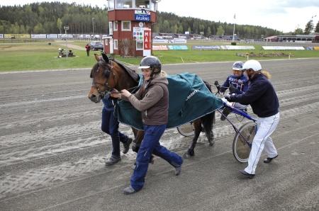 Fjord Jerka med Magnus Teien Gundersen i sulkyn vinnare i lopp 5.