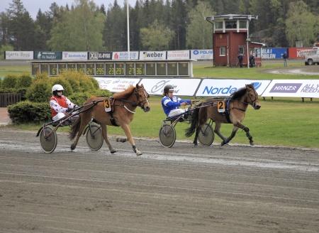 Ponnyloppet vanns av 2. Skotts Razputin med Victor Ekblom i sulkyn.