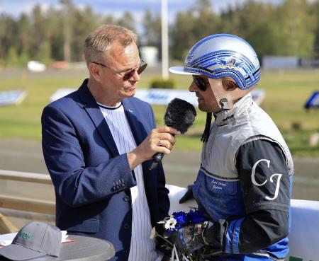 Carl Johan Jepsons andra besök i vinnarcirkeln denna tävlingsdag.