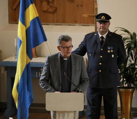 Kyrkoherde Rune Wallmyr framförde en Välkomsthälsning.